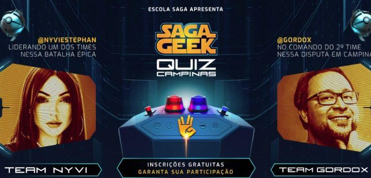 Photo of SAGA promove competição de conhecimento geek com a participação de Gordox e Nyvi Estephan