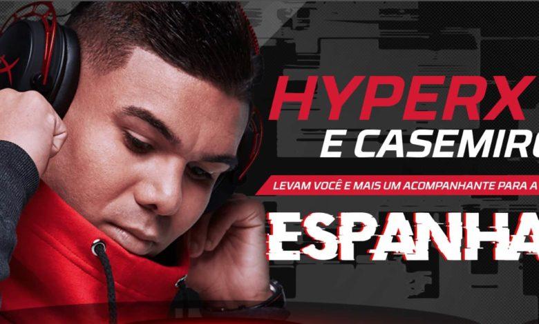 """Photo of Promoção """"HyperX e Casemiro levam você para a Espanha"""" recebe inscrições até 30 de novembro"""