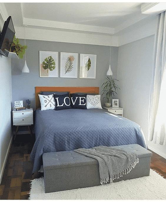 cores mais claras na decoração para quartos pequenos