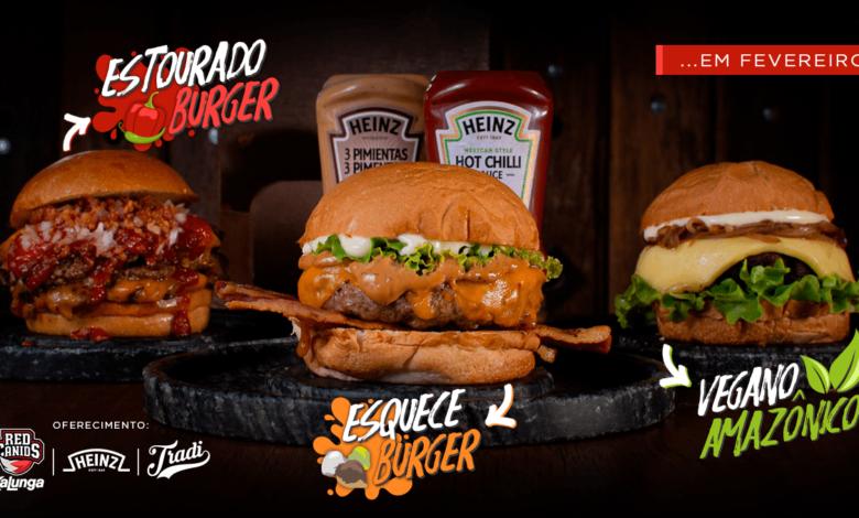 Photo of Três sanduíches artesanais criados pela RED Canids Kalunga