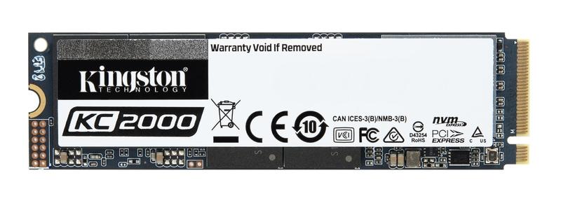 O KC2000 da nova geração de SSD proporciona excelente desempenho, é resistente